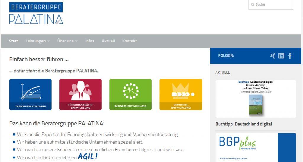Beratergruppe PALATINA - einfach besser führen …