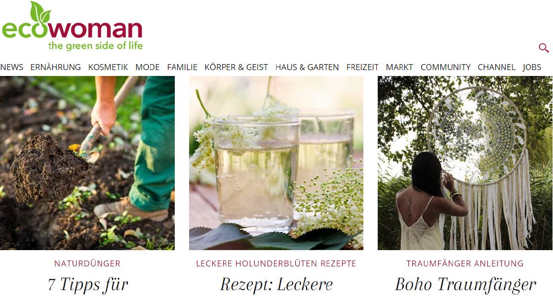 ecowoman.de - das Onlinemagazin für einen nachhaltigen Lebensstil