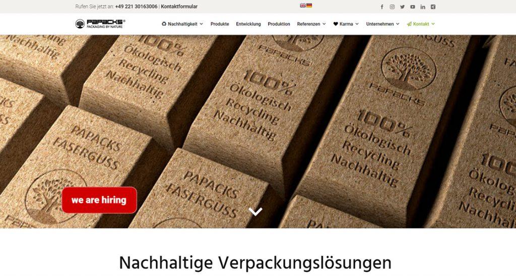 PAPACKS - Nachhaltige Verpackungslösungen